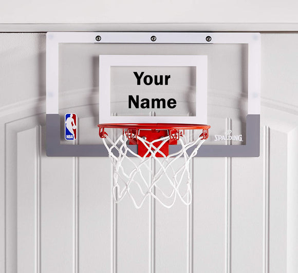 Customized Spalding Mini Basketball Hoop Black