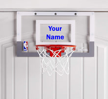 Load image into Gallery viewer, Customized Spalding Mini Basketball Hoop Blue