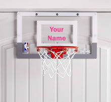 Load image into Gallery viewer, Customized Spalding Mini Basketball Hoop Pink