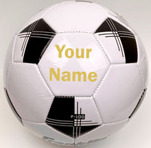 Load image into Gallery viewer, Customized Soccer Ball Gold