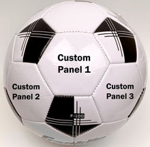 Load image into Gallery viewer, Customized Soccer Ball Black