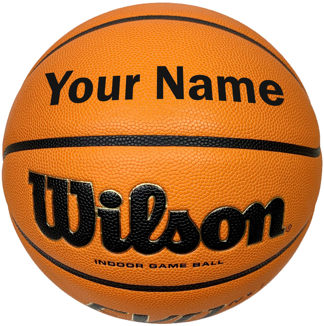 Customized Wilson Evo NXT Basketball Black
