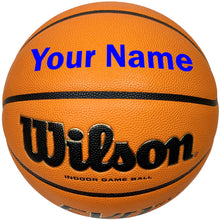 Load image into Gallery viewer, Customized Wilson Evo NXT Basketball Blue
