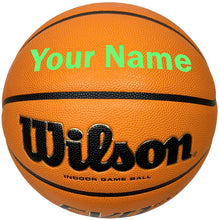 Load image into Gallery viewer, Customized Wilson Evo NXT Basketball Bright Green