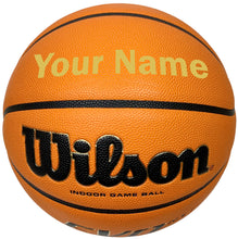 Load image into Gallery viewer, Customized Wilson Evo NXT Basketball  Gold