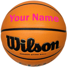 Load image into Gallery viewer, Customized Wilson Evo NXT Basketball Pink