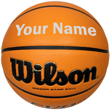 Load image into Gallery viewer, Customized Wilson Evo NXT Basketball Silver
