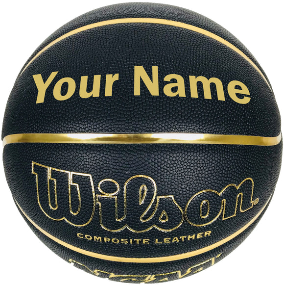 Customized Wilson NCAA Sensation Black and Gold Basketball