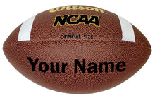 Load image into Gallery viewer, Customized Wilson NCAA Football Black