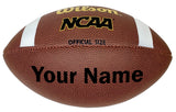 Customized Wilson NCAA Football Black