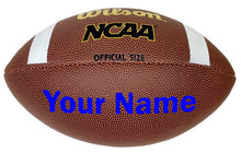 Load image into Gallery viewer, Customized Wilson NCAA Football Blue