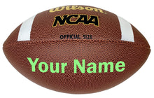 Load image into Gallery viewer, Customized Wilson NCAA Football Bright Green