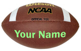 Customized Wilson NCAA Football Bright Green