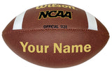 Customized Wilson NCAA Football Gold