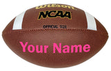 Customized Wilson NCAA Football Pink