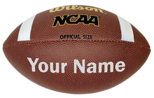 Load image into Gallery viewer, Customized Wilson NCAA Football Silver