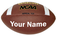 Load image into Gallery viewer, Customized Wilson NCAA Football White