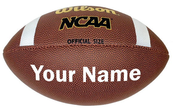 Customized Wilson NCAA Football White