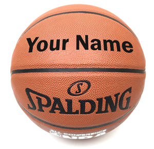 Customized Spalding All Conference Basketball Black