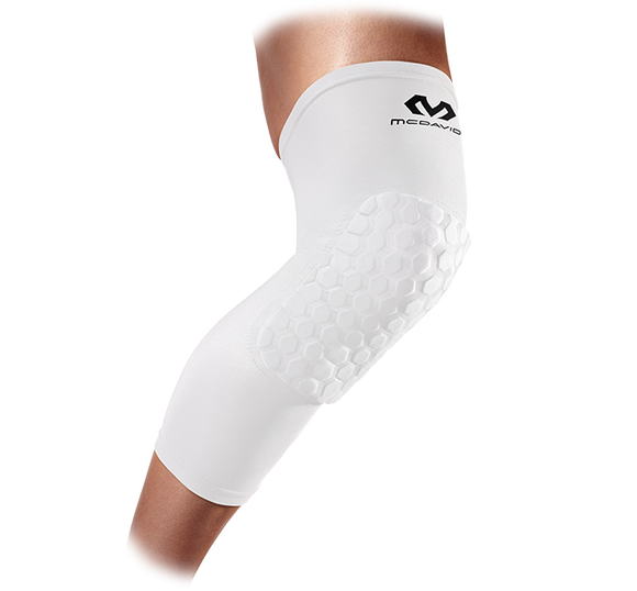 Hex Compression Leg Sleeve White