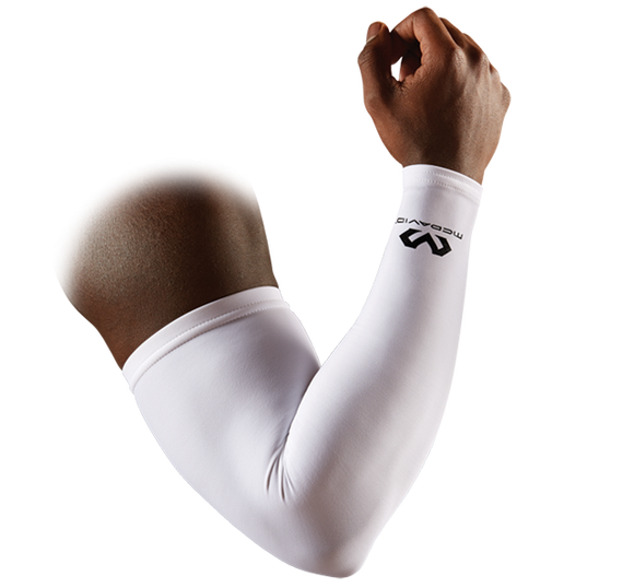 McDavid Compression Arm Sleeve White