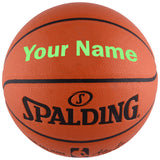 Customized Spalding NBA Replica Bright Green