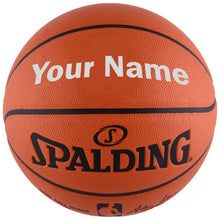 Load image into Gallery viewer, Customized Spalding NBA Replica Silver