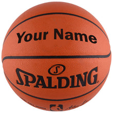 Load image into Gallery viewer, Custom Spalding NBA Replica Indoor Outdoor Game Basketball