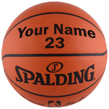 Load image into Gallery viewer, Spalding NBA Replica Indoor Outdoor Basketball with Jersey Number