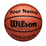 Customized Wilson Evolution Indoor Basketball