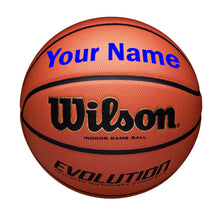 Load image into Gallery viewer, Customized Wilson Evolution Indoor Basketball blue