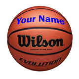 Customized Wilson Evolution Indoor Basketball blue