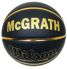 Load image into Gallery viewer, Wilson Black and Gold Customized Basketball