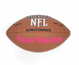 Customized Wilson NFL Football Pink