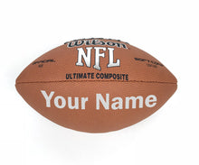Load image into Gallery viewer, Customized Wilson NFL Football Silver