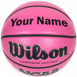 Customized Personalized Wilson Pink Basketball