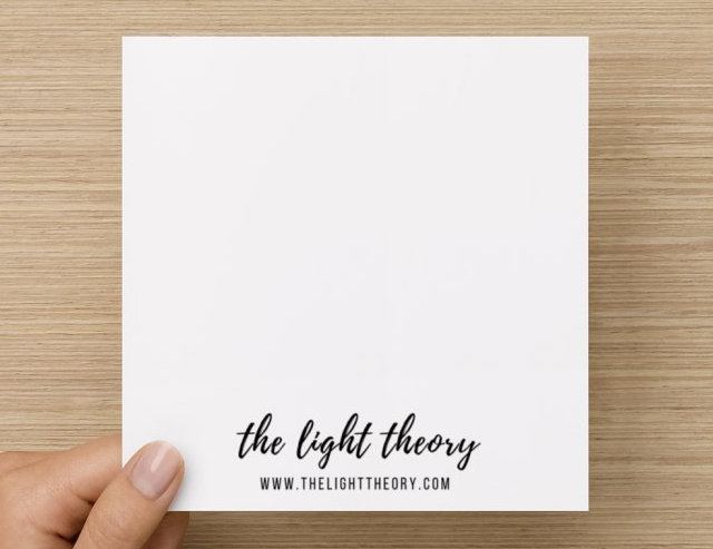 Folding Blank Card - Luminosity (one)
