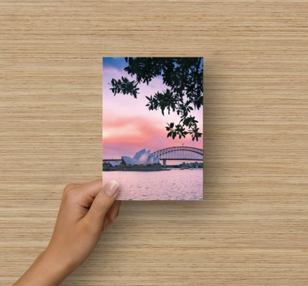 Flat Blank Card - Sydney Harbour (two)