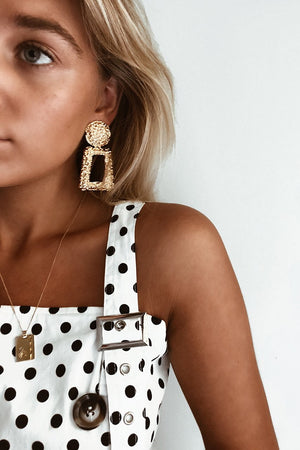 Golden Girl Earrings - Three Nines Boutique
