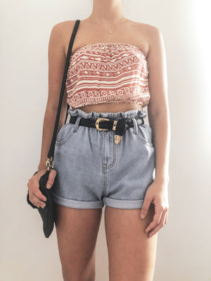 Destination crop / red - Three Nines Boutique