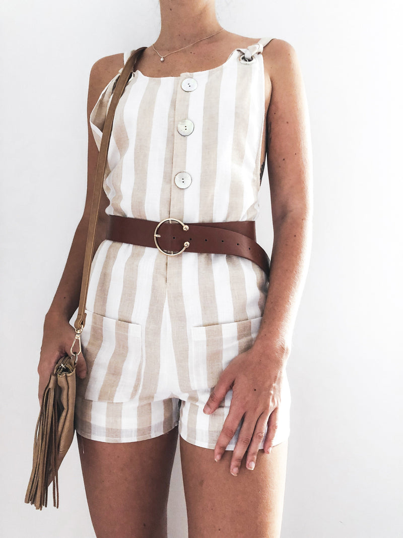 Wild way overall playsuit.
