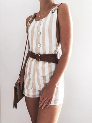 Wild way overall playsuit. - Three Nines Boutique