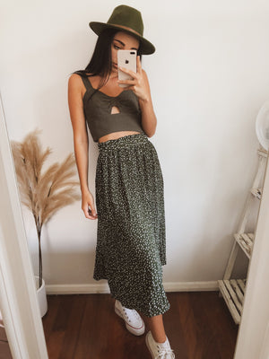 Nomad linen crop - Three Nines Boutique