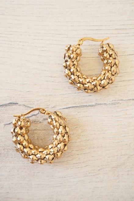 Coral Earrings - Three Nines Boutique