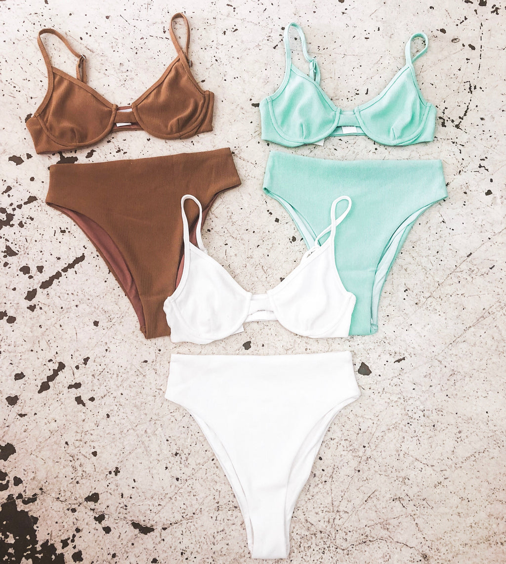 Ariel bikini // Mint - Three Nines Boutique