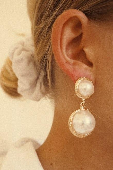 Pearls Of Wisdom Earrings - Three Nines Boutique