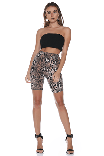 Snake Cycle Shorts - Three Nines Boutique