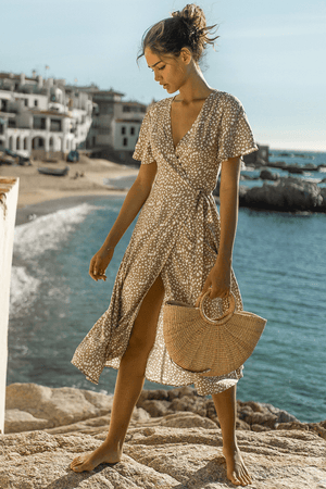 Mi Amor Wrap Dress - Three Nines Boutique