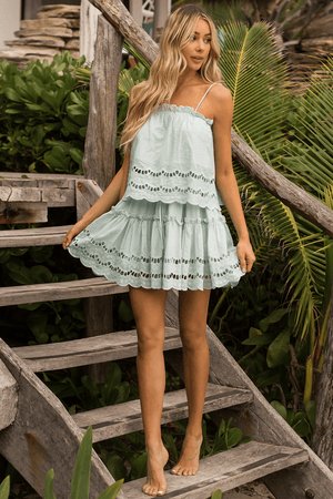 Alannah Skirt // Mint - Three Nines Boutique