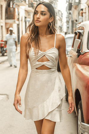 Sunset Dress // Natural - Three Nines Boutique